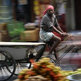 Street life  by Arvind Akki - City,  Street & Park  Street Scenes ( panning, #market #transport #people #streetlife )