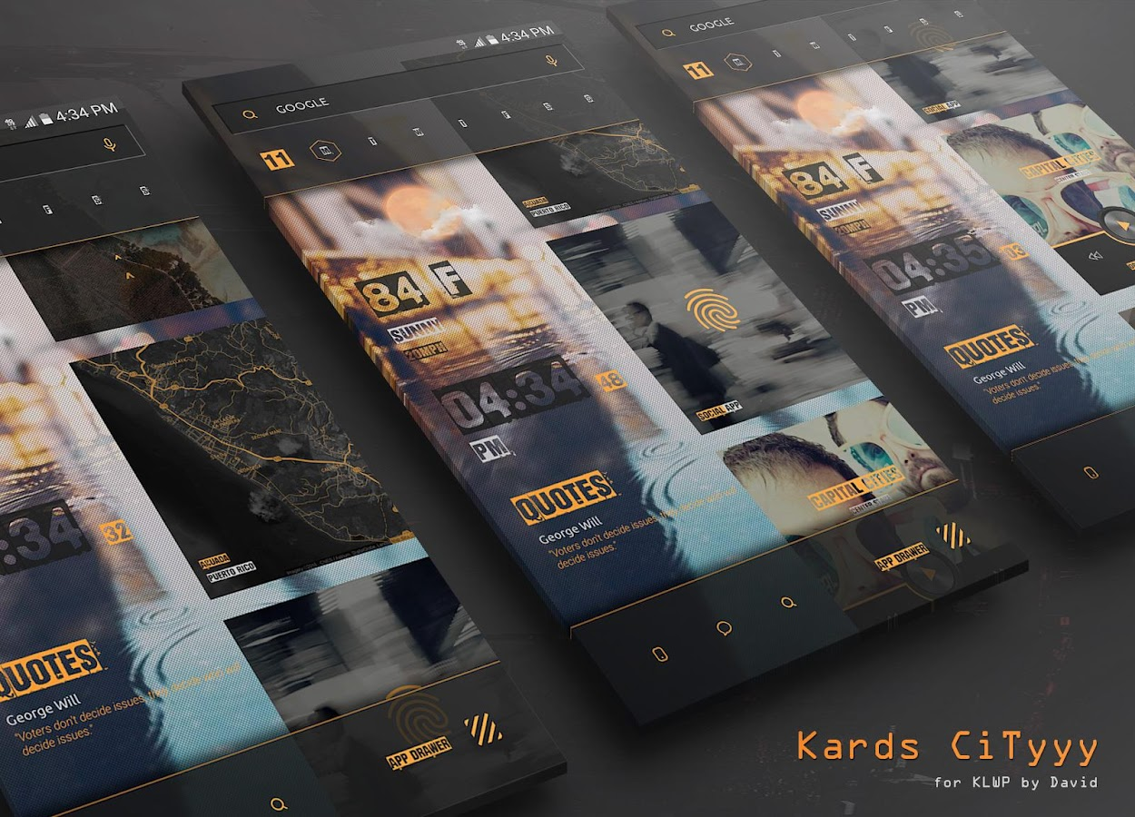Kards CiTyyy for KLWP Screenshot 0