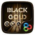 Black Gold GO Launcher Theme APK for Bluestacks