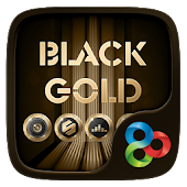 Download Black Gold GO Launcher Theme APK for Android Kitkat