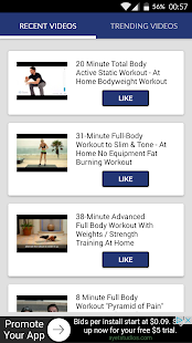 Aerobics workouts fitness Fitness app screenshot for Android