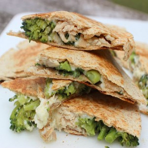 Turkey Broccoli Alfredo Quesadillas