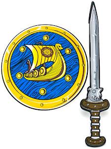 """Игровой набор """"Играем с папой"""", щит и меч, синий"""