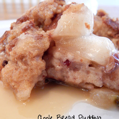 Apple Bread Pudding With Apple Pie Moonshine Glaze