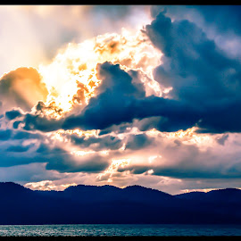 Tahoe Sky by Jay Elias - Novices Only Landscapes ( clouds, mountain, sky, sunset, lake,  )