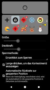 Bildschirmsperre (Screen Lock) Screenshot