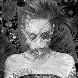 dreams by Kathleen Devai - Digital Art People ( monochrome, vintage, woman, portrait )