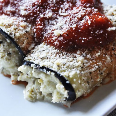 Eggplant Involtini with Pesto Filling Low-Carb Side Dish