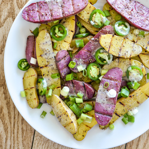 Grilled Fingerling Potato Salad with Chia Seed Ranch Dressing