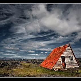 Presto by Þorsteinn H. Ingibergsson - Landscapes Cloud Formations ( clouds, cabin, iceland, sky, nature, structor, landscape, abandoned )