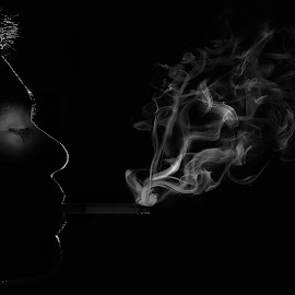 Low key smoke by Brothers Photography - Abstract Fire & Fireworks ( cigarette, low key, smoking, low light, smoke,  )