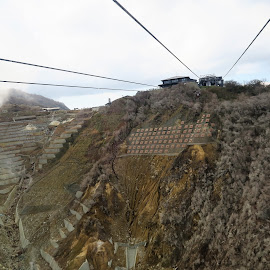 Cables of Hakone Ropeway by Dennis Ng - Transportation Other