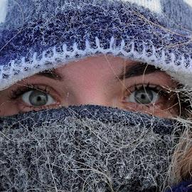 Arctic freeze by LaDona Harman - People Portraits of Women ( cold, barrow, ice, frost, beauty, arctic )