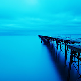 The Twilight Zone by CLINT HUDSON - Landscapes Travel ( isle of man, sea, queens pier, seascape )