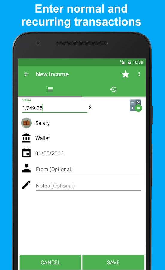 Fast Budget - Expense Manager Screenshot 2