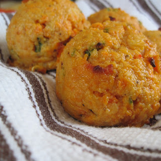 Shrimp and Jalapeno Sweet Potato Biscuits