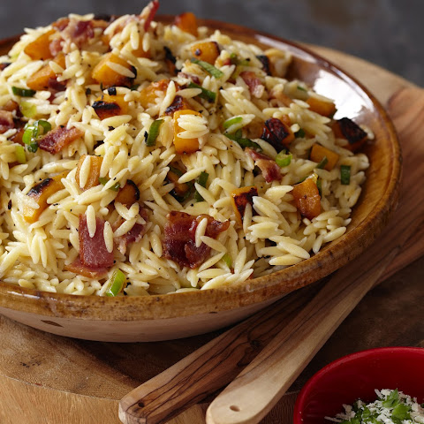Orzo, Winter Squash, and Applewood-Smoked Bacon