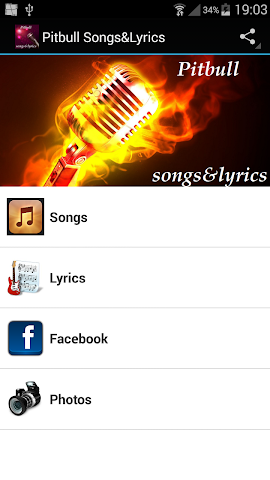 android Pitbull Songs&Lyrics Screenshot 0