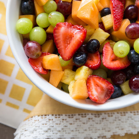 Honey-Lime Sweetened Fruit Salad