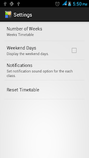 Easy Class Timetable - screenshot