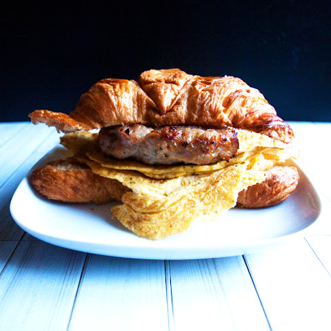 Sausage & Omelette Croissant