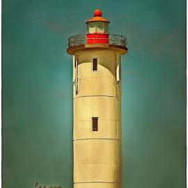 Lighthouse in Port Edward by Glenn Visser - Buildings & Architecture Public & Historical ( lighthouse, sea, port edward, coast )