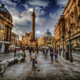 Grey's Monement by Adam Lang - City,  Street & Park  Historic Districts ( greys monument, tyneside, newcastle, city centre, city )
