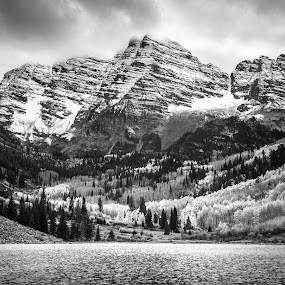 Maroon Bells by Geoff Ridenour - Landscapes Mountains & Hills ( geoff ridenour, mountains, color, fall, www.geoffridenour.com, 2012, colorado, © 2012 geoff ridenour, travel )