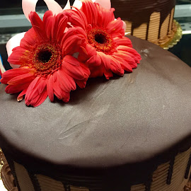Cake with Flowers by Lope Piamonte Jr - Food & Drink Candy & Dessert