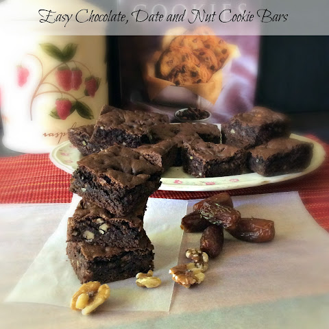 Easy Chocolate, Date and Nut Cookie Bars