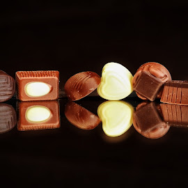 More chocolate by Ana Paula Filipe - Food & Drink Candy & Dessert ( chocolate, candy, white, brown, six )