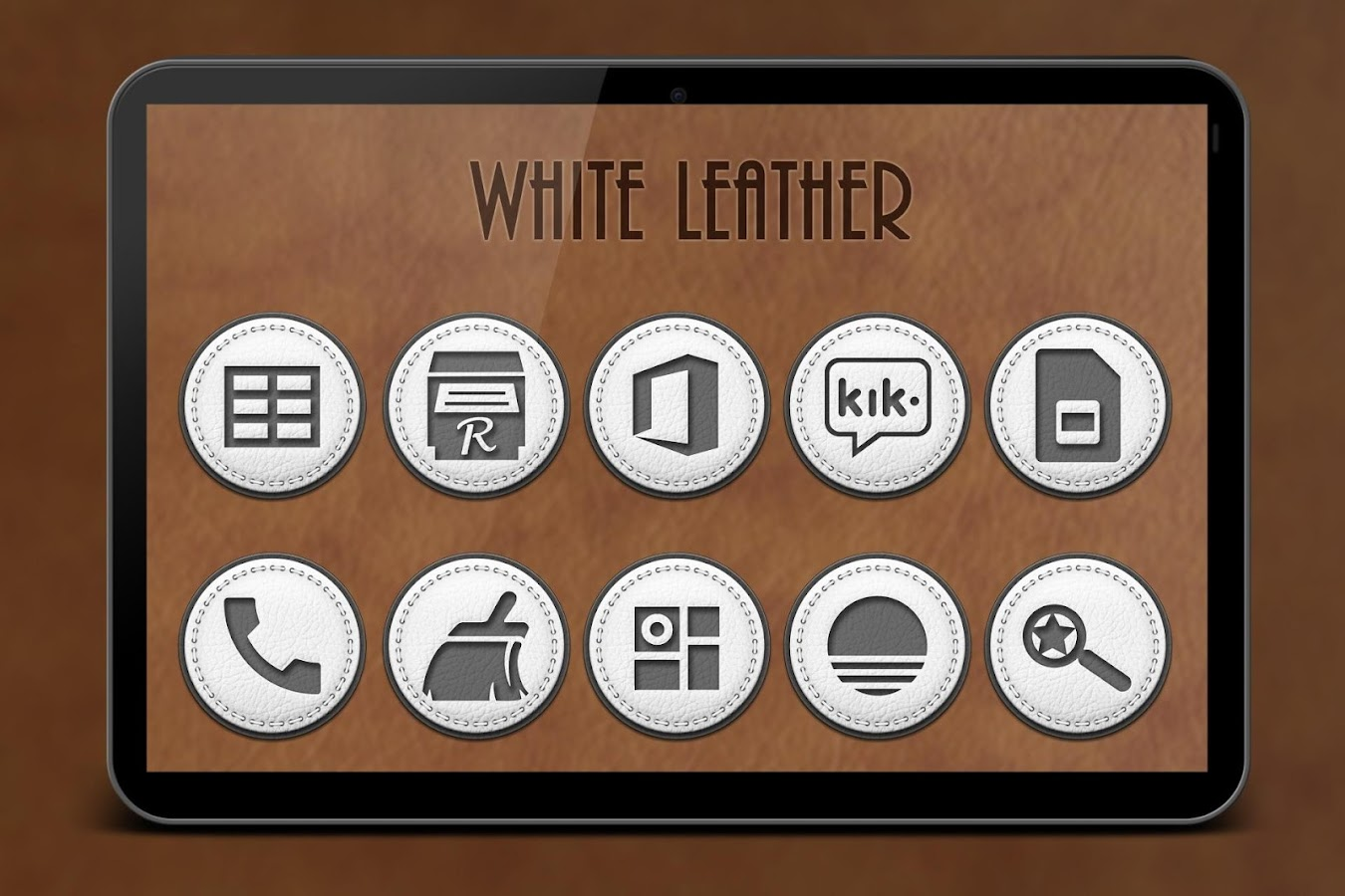 White Leather Icon Pack Screenshot 8