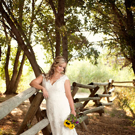 Bride by Melissa Papaj - Wedding Bride ( fence, bridal, dress, wedding, bride )