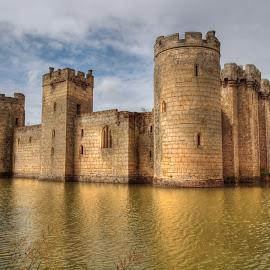 Bodiam castle by Martin Hughes - Uncategorized All Uncategorized ( water, reflection, sussex, moat, reflections, bodiam castle, bodiam )