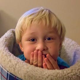 Peek-A-Boo by Geoffrey Wols - Babies & Children Toddlers ( child, cheeky, cute, toddler, boy )