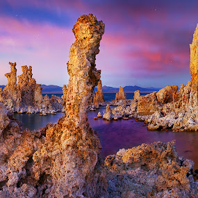 Other World by Craig Bill - Landscapes Sunsets & Sunrises ( mono lake, california, sunset, tufas, lake,  )