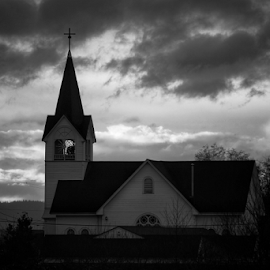 Fir-Conway Lutheran Church  by Todd Reynolds - Black & White Buildings & Architecture
