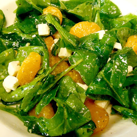 Spinach Salad with Oranges and Feta Cheese