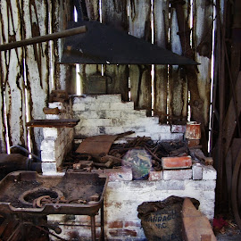 Blacksmiths Workshop by Sarah Harding - Novices Only Objects & Still Life ( shop, still life, novices only, antique, historic )