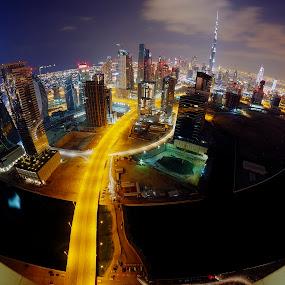Downtown Dubai skyline by Obet Quetulio - City,  Street & Park  Skylines