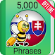 Learn Slovak - 5000 Phrases