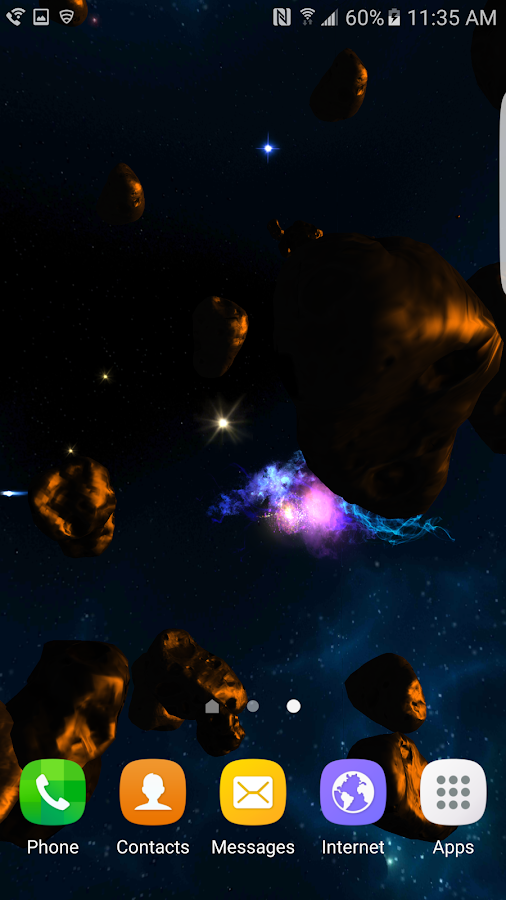 3D Galaxies Exploration LWP Screenshot 7