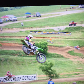 My Son Racing  by Teresa Flowers Wolford - Sports & Fitness Motorsports ( motorcycles, jumping, motocross, awesome, air, motorsport )