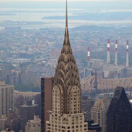 Chrysler bldg from Empire State by Eric Lovell - City,  Street & Park  City Parks