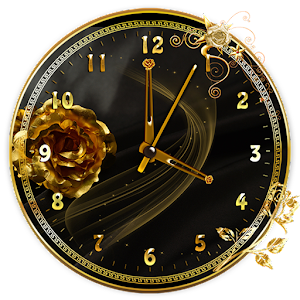 Download Golden Rose Clock Live Wallpaper for Windows Phone