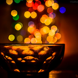 Shower of delights... by Subhayan Saha - Abstract Light Painting ( lights, nikonshooter, night photography, indoor, colorful, colors, night, low light, light, bokeh )