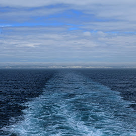Blue Waves by Meeta Thakur - Landscapes Travel ( water, ferry, waves, sea, travel )