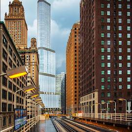 Old & New by Jon Kinney - Buildings & Architecture Office Buildings & Hotels ( chicago )