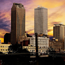 New Orleans sets by Alex  Wolf - City,  Street & Park  Skylines ( clouds, new orleans, skyline, alex wolf, wolfproduction.us, louisiana, sun )