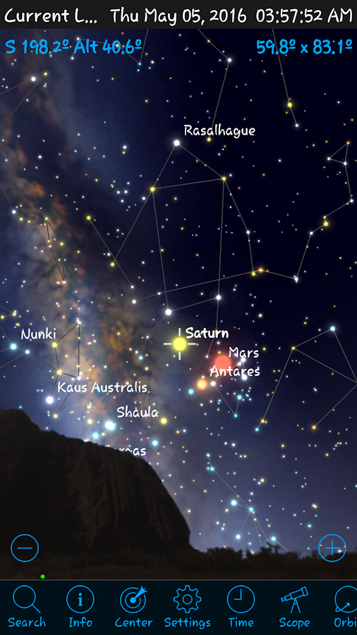 StellaAccess Planetarium Screenshot